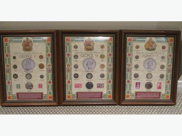 "The ""Royal Monarchs"" Framed Coin Collections"