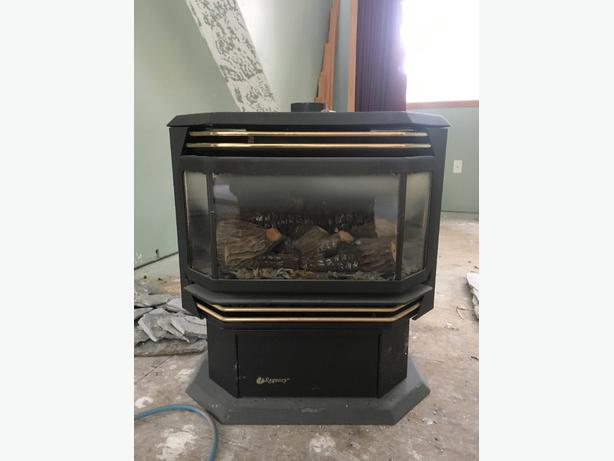 regency propane heater fireplace and tank courtenay comox