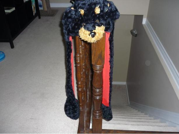 Dog Animal Winter Hat - with Ear Flaps and Hand Pockets