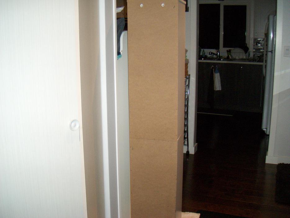 Narrow white bathroom cabinet storage saanich victoria for Bathroom cabinets nanaimo