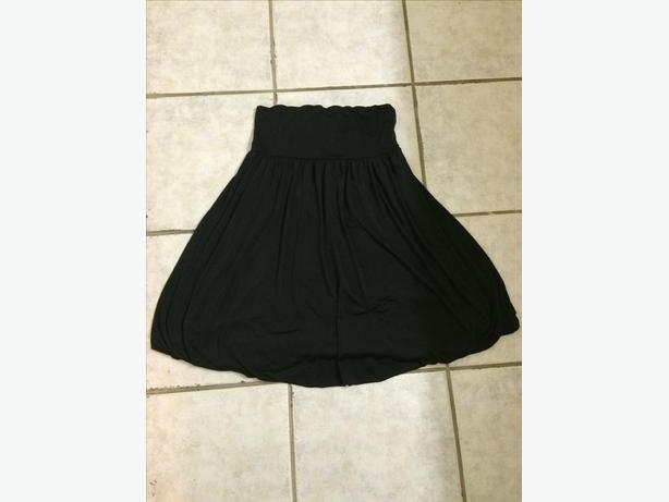 high waisted knee length skirt oak bay