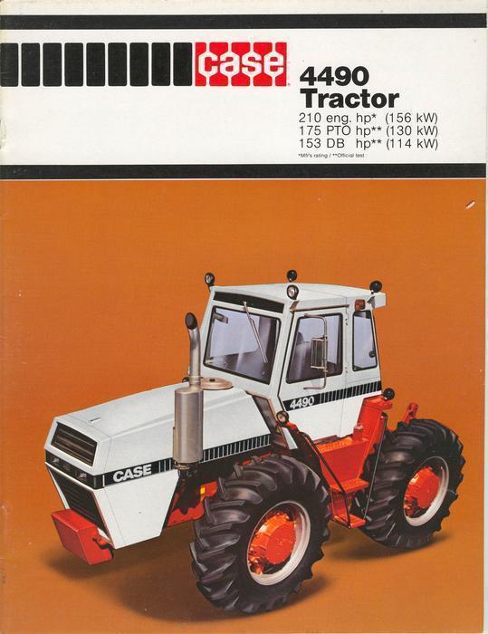 Case 4490 Tractor : Case tractor brochure transcona north kildonan