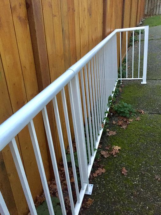 White Aluminum Deck Railing Saanich Victoria