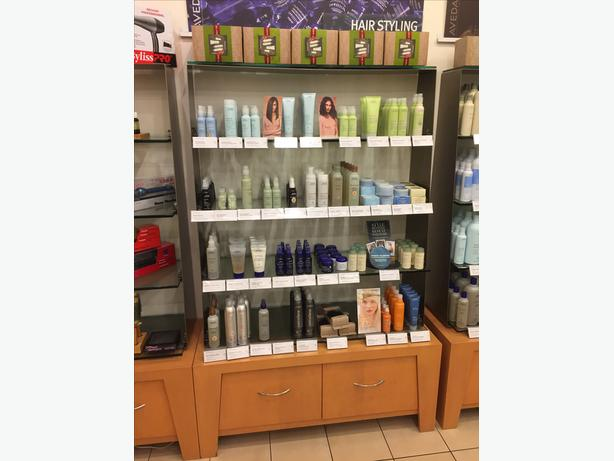 Nice Condition Retail Shelves And Makeup Table West Shore