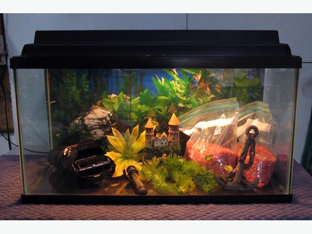 30 Gallon Tank Lid Light Heater Filter Gravel
