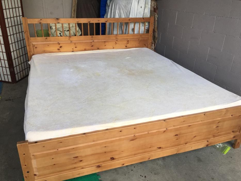 King Size Hemnes Bed With Tempurpedic Mattress Victoria