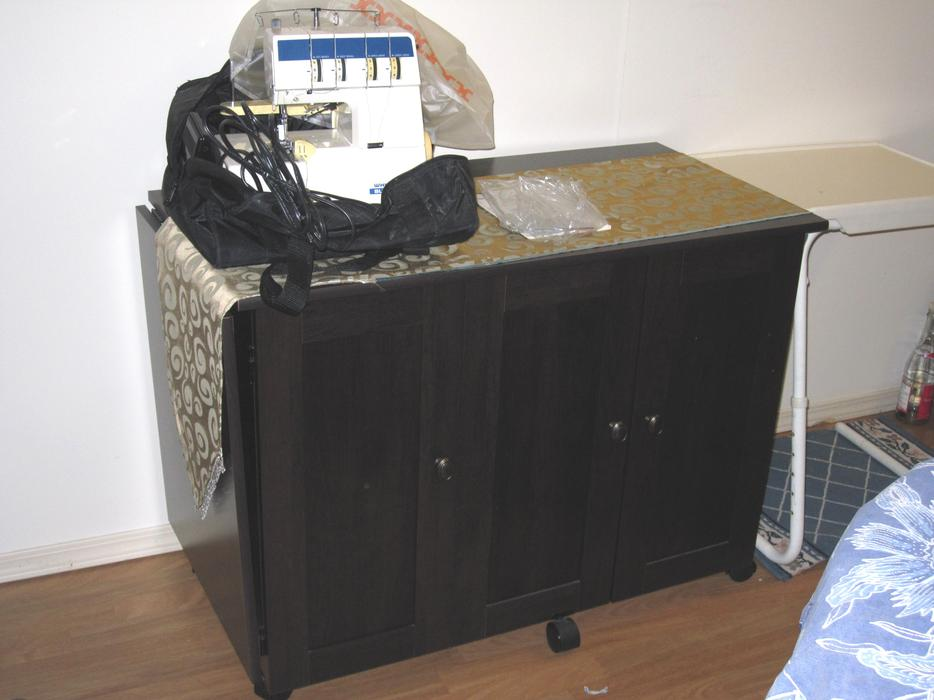 solid wood sewing machine cabinets