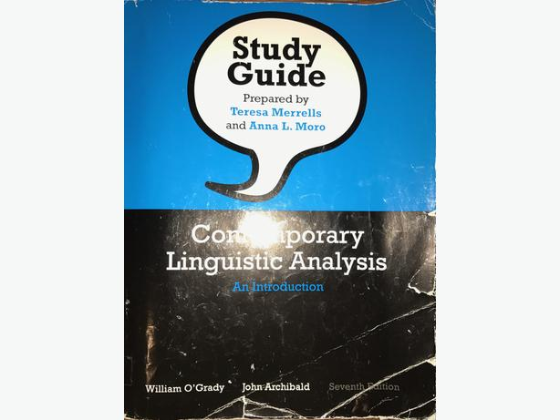 study guide for contemporary linguistic analysis paperback 7th rh usedvictoria com Linguistic Anthropology Linguistic Learner