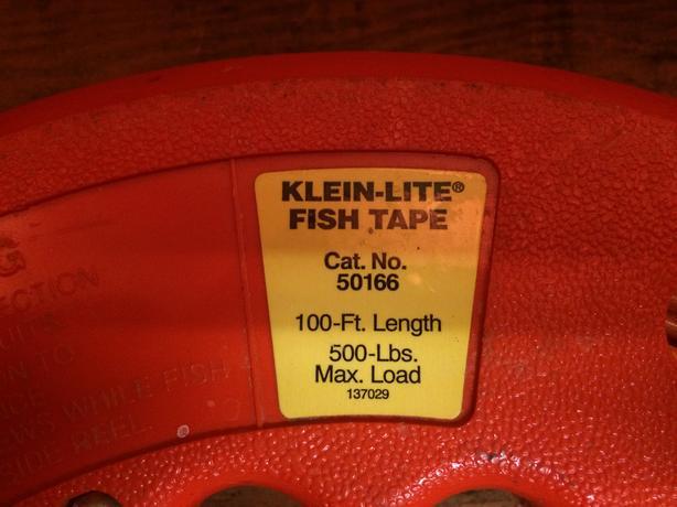 Klein fiberglass fish tape north saanich sidney victoria for Klein fish tape