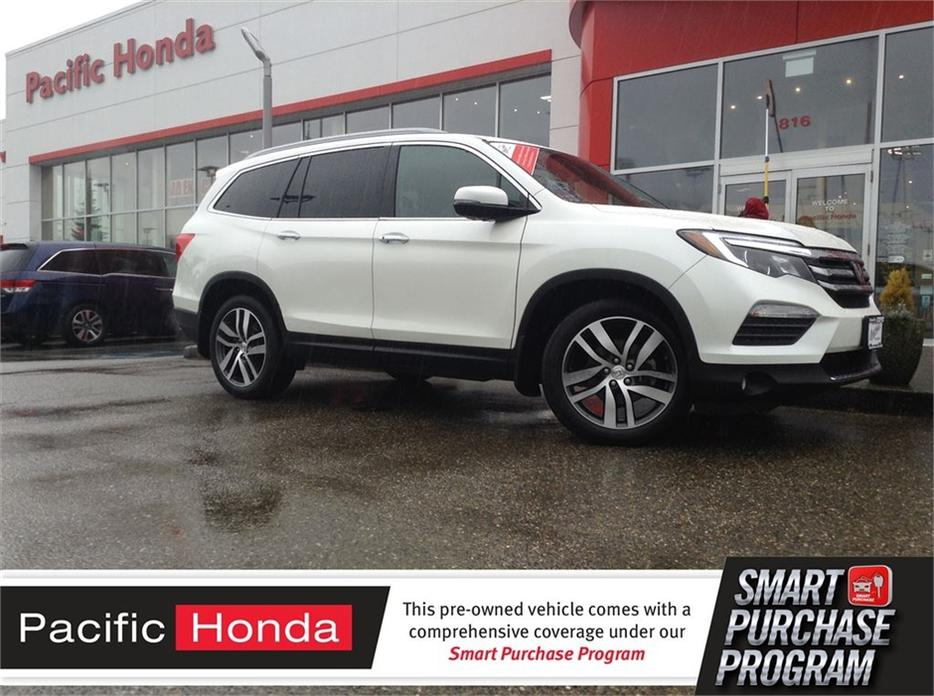 2016 honda pilot touring cert pilot touring in white for Certified pre owned honda pilot 2016