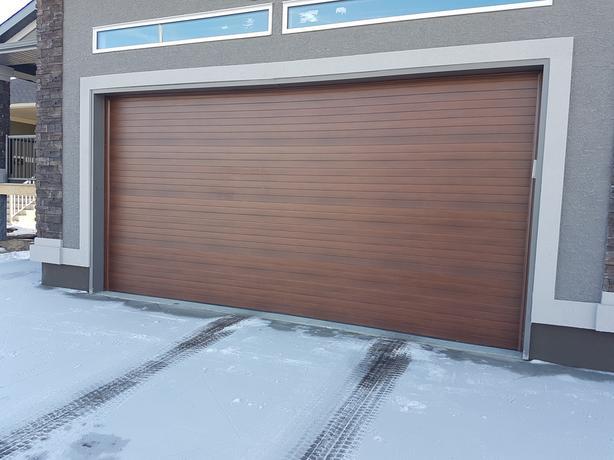 Garage Door Used 16 X 8 Amp 9 X 8 Contemporary Wood Grain R