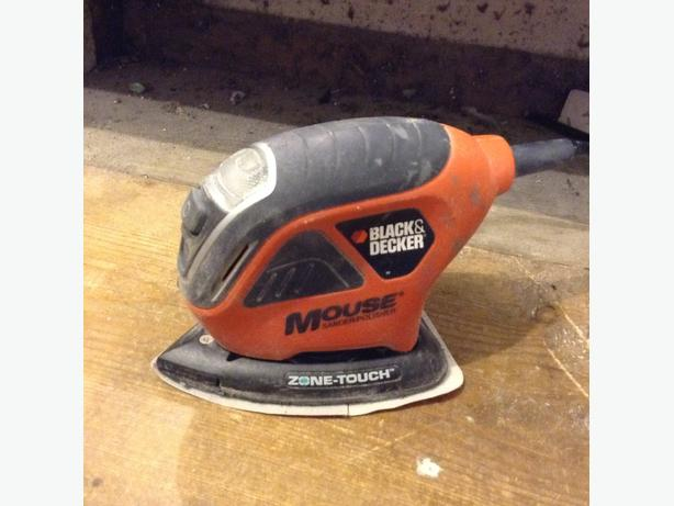 black and decker mouse sander how to use
