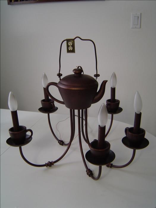 Chandelier Pair Teapot And Teacups North Regina Regina