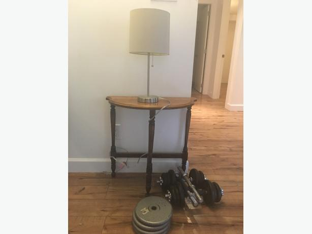 FREE Table Lamp And Weights Saanich Victoria
