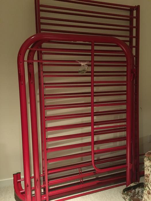 Red Metal Bunk Bed Frame Saanich Victoria