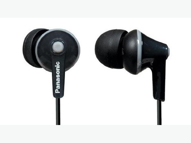 PANASONIC ERGOFIT Stereo Earbuds Earphones for iPod MP3 (RP-HJE125PPK) - Black