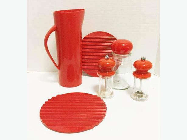 Red Ensemble  Kitchen Utensils  plastic different makers
