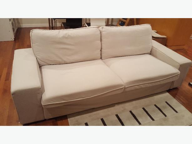 ikea fabric sofa couch beige saanich victoria. Black Bedroom Furniture Sets. Home Design Ideas