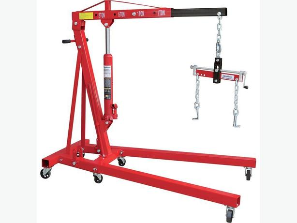 Engine Lift Arms : Hydraulic engine hoist with load leveler new in original