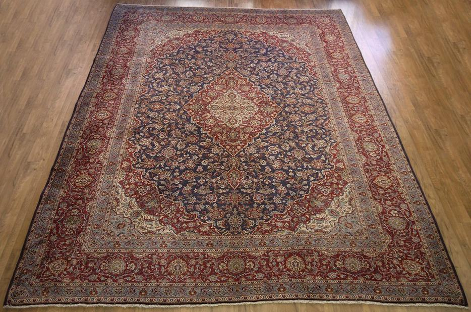 16615 Kashan Hand Knotted Handmade Persian Rug Carpet