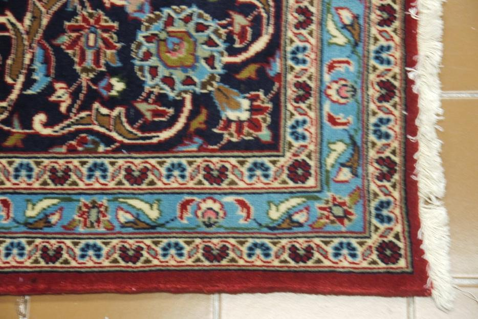 19529 Kashan Hand Knotted Handmade Persian Rug Carpet