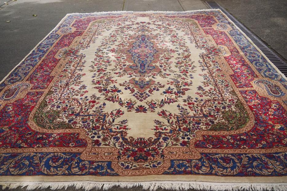 19448 Kerman Handmade Hand Knotted Persian Rug Carpet