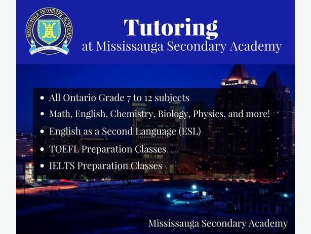Mississauga Tutors available for TOEFL, IELTS, and High School!