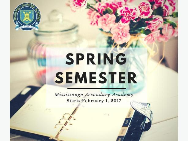 Spring Semester at Mississauga Private High School!