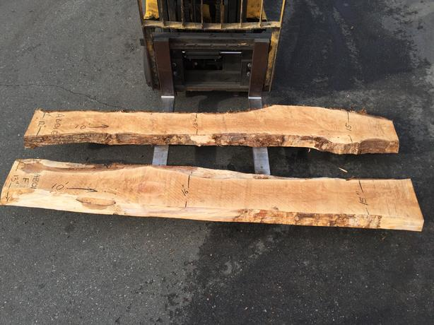 Alder maple and cedar live edge slabs outside victoria for Live edge wood slabs new york