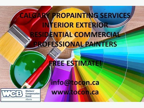 Calgary ProPainter Quality Services. FREE estimate!