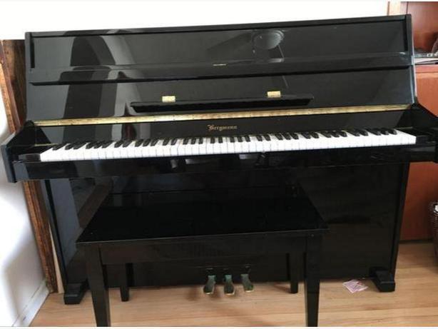 Beautiful Bergmann Upright Piano Mint Condition Saanich
