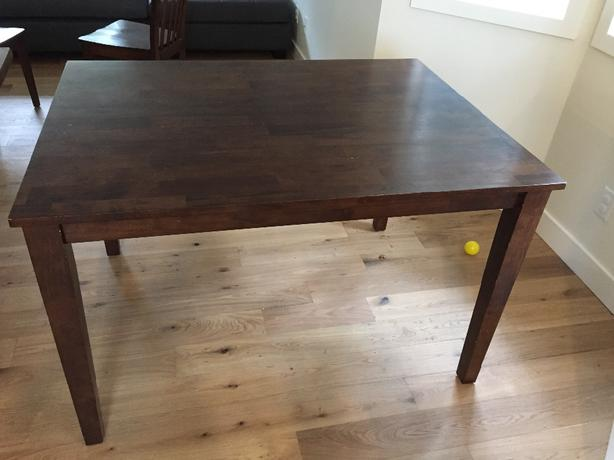 solid wood dinner craft table saanich victoria