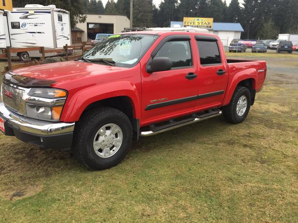 2005 gmc canyon sle crew cab off road 4x4 great looking truck outside comox valley. Black Bedroom Furniture Sets. Home Design Ideas