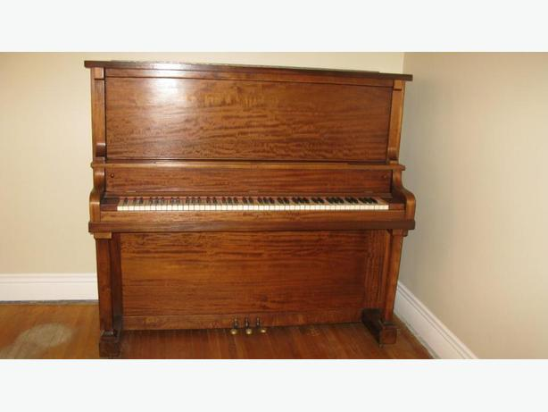 WEBER UPRIGHT MAHOGANY PIANO