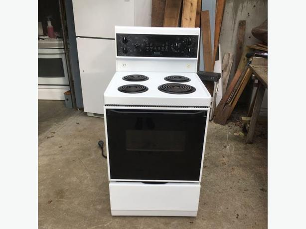 log in needed 235 white apartment size stove