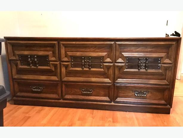 Dark Wood Buffet ~ Peppler sklar furniture vintage dresser project piece dark