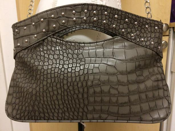 Aldo Green Faux Alligator Print Purse - $10 OBO