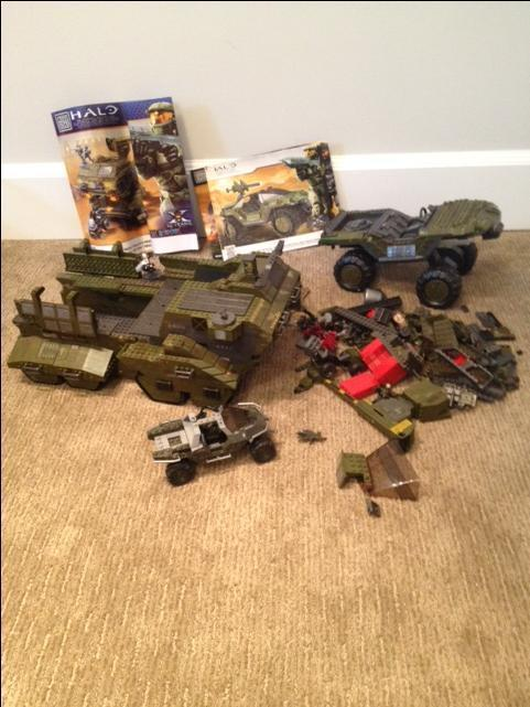 halo mega bloks instruction manuals