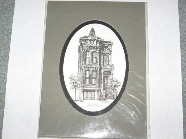 Signed Mark Monsarrat print  , Old house ready for framing