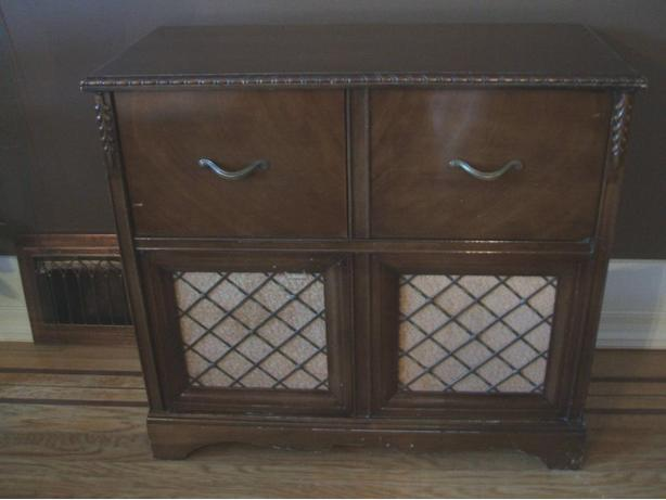 OLD Radio and phonograph Cabinet