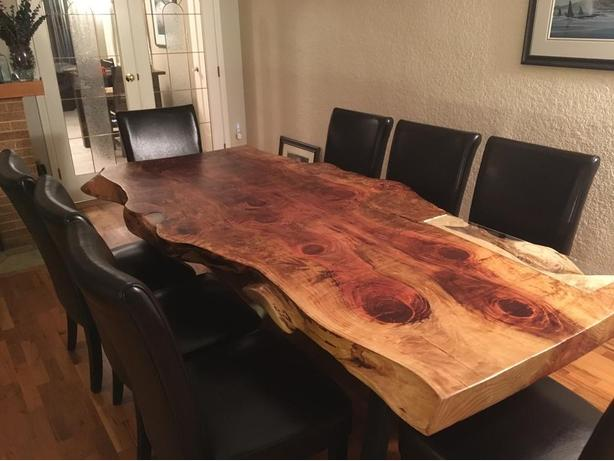 2 day sale Live edge cotton wood dining room table  : 57953575614 from www.usedvictoria.com size 614 x 461 jpeg 39kB