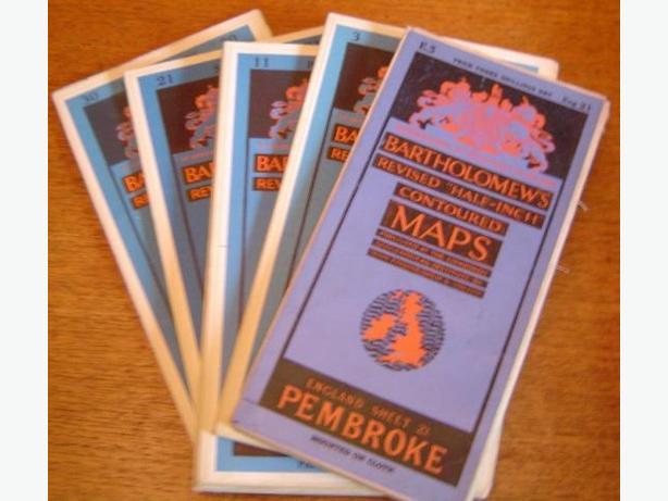 BARTHOLOMEW'S  CONTOURED MAPS