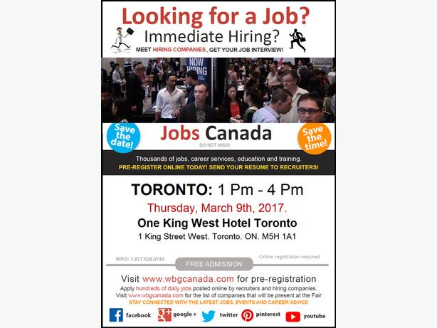 Bilingual Job Fair Toronto - March 09, 2017