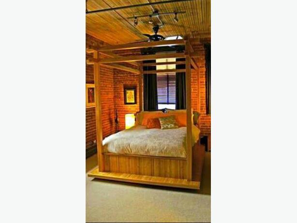 handmade bamboo bed frame