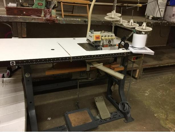 sewing machine with serger