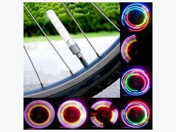 BRAND NEW BIKE BICYCLE CAR MOTORCYCLE TIRE VALVE 2 LED LAMP WHEEL