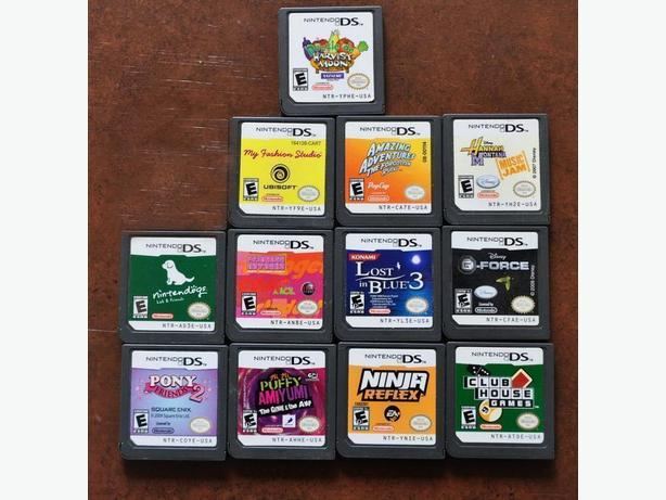 Nintendo DS cartridge games