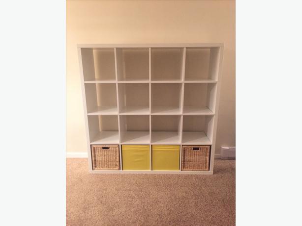 ikea kallax shelf with box inserts victoria city victoria. Black Bedroom Furniture Sets. Home Design Ideas