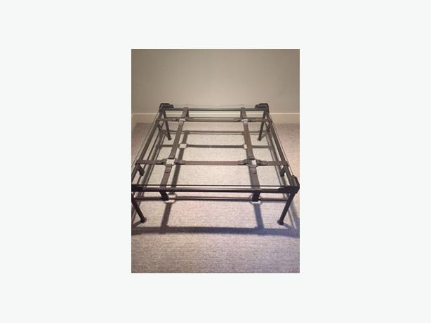 Square Iron & Glass Coffee Table