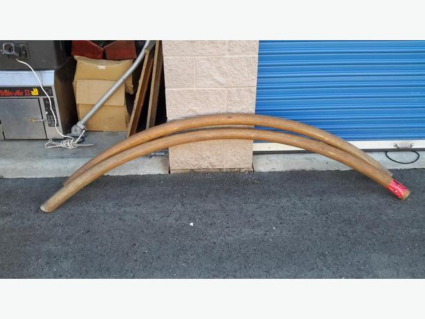 curved oak bar rails